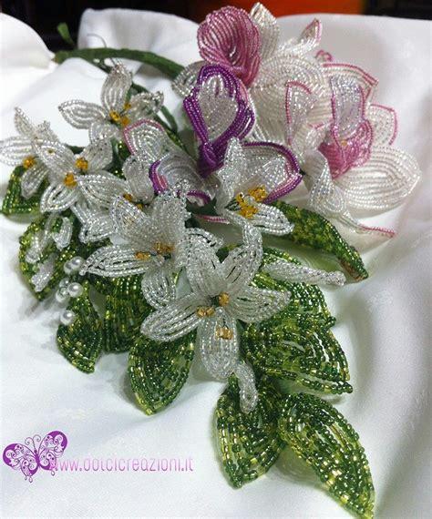 fiore con perline fiori di perline bouquet sposa