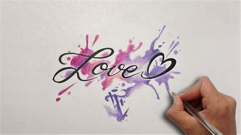 tattoo lettering youtube dise 241 o letras love lettering design love nosfe ink