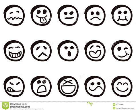 doodle emoticon doodle smiley faces stock vector image 51775944