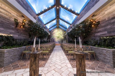 indoor garden wedding venue ideal  woodland weddings