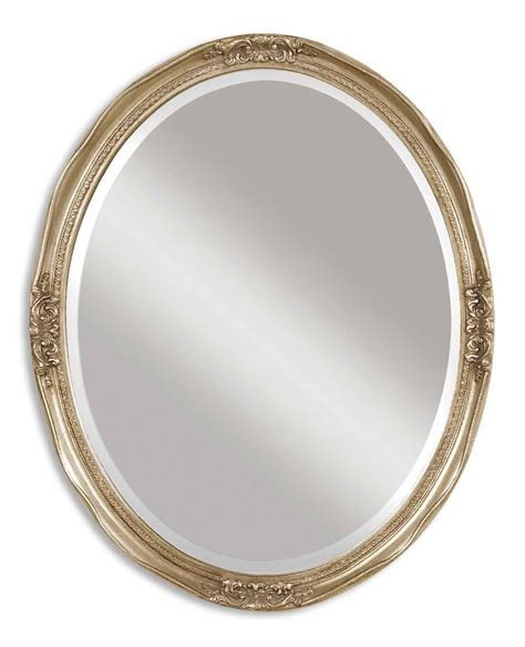 The Uttermost Company Mirror Uttermost Newport Oval Silver Mirror 08565 B