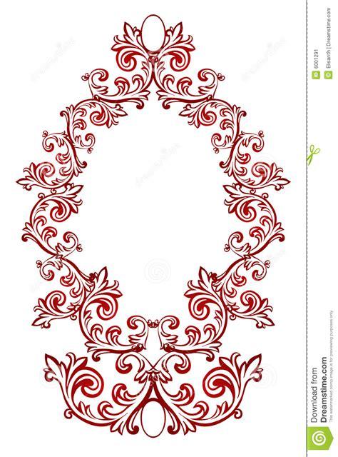 imagenes de vectores rojos marco floral rojo del vector imagen de archivo imagen