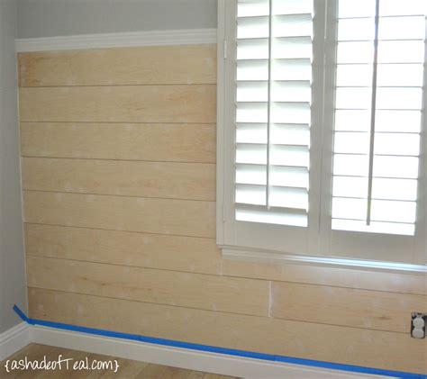 Shiplap Wall Diy Faux Shiplap Wall A Shade Of Teal