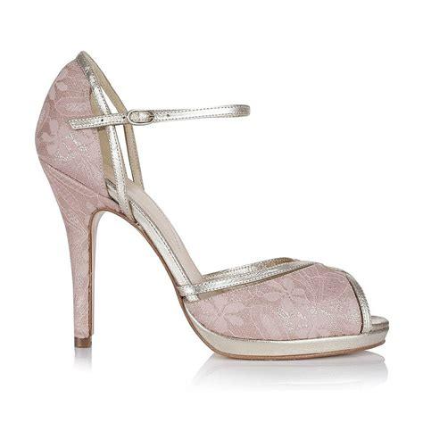 lace platform wedding shoes by