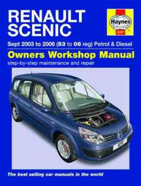 renault scenic petrol diesel 2003 2006 haynes service repair manual uk sagin workshop car