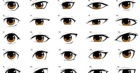 anime eye styles by pinkfirefly drawing tips