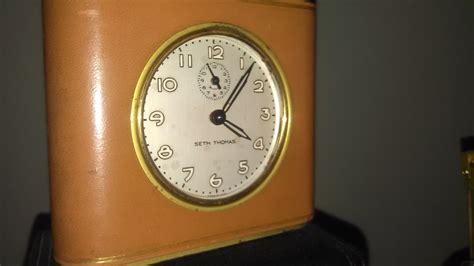 neat clocks neat little american made seth thomas leather wrapped