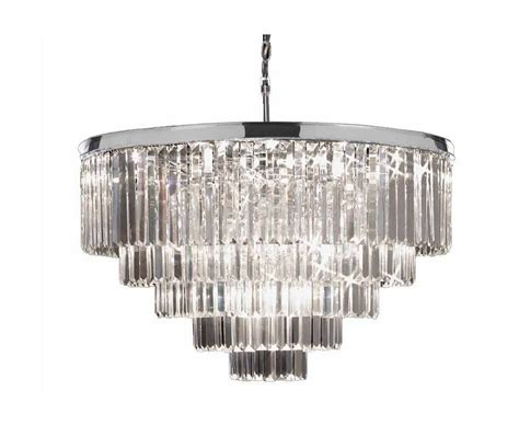 Odeon Crystal Chandelier Gallery T40 645 Chrome Odeon 18 Light 5 Tier Crystal