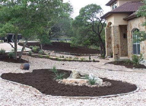 image of river rock landscaping ideas front yard ideas and landscaping gardening ideas