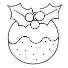 christmas pudding embroidery pattern