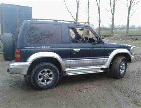 transmission control 1995 mitsubishi pajero parking system 1995 mitsubishi pajero swb blue silver spares or repairs car for sale