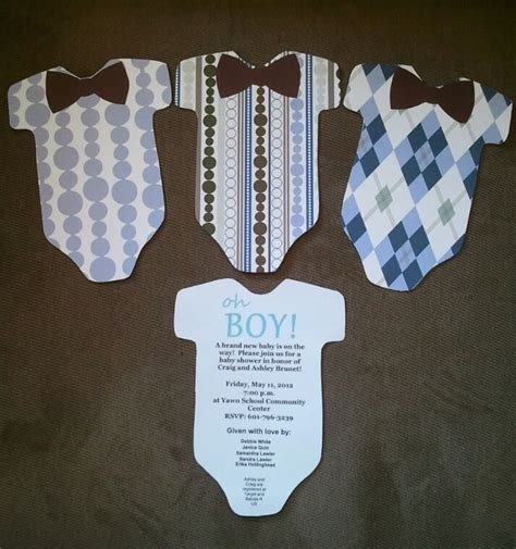 Baby Shower Invitations Diy Baby Blue Pinterest Bow Ties Cricut Cartridges And Shower Diy Baby Shower Invitations Template