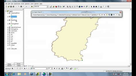 arcgis watershed tutorial arcgis archydro watershed processing interactive point
