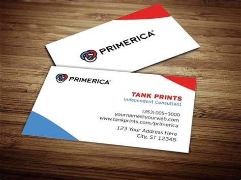 primerica business card template primerica business card design 4