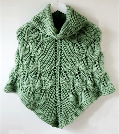 knitted poncho for poncho knitting pattern