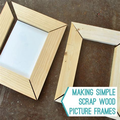 How To Make A Picture Frame Out Of Paper - simple scrap wood picture frames house