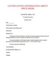 Official Letter Giving Information Letter Of Giving Information Exle Sles Business Letters