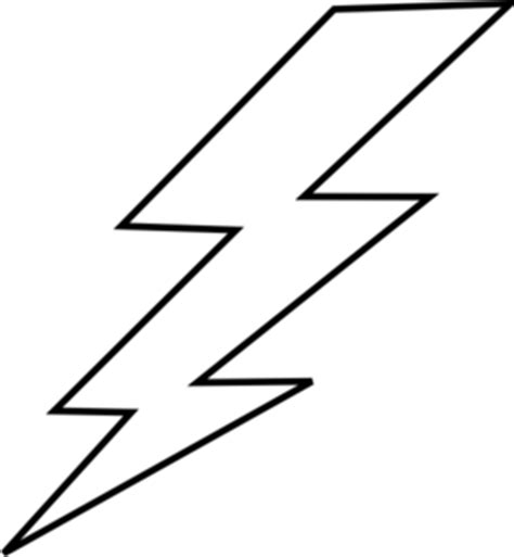 Lightening Clip Art At Clker Com Vector Clip Art Online Royalty Free Public Domain Lightning Bolt Template
