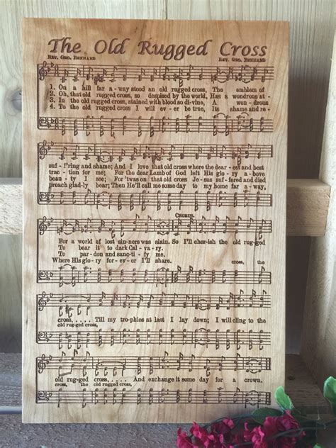 the rugged cross choir rugged cross laser engraved hymn beautiful gift for your minister choir director choir