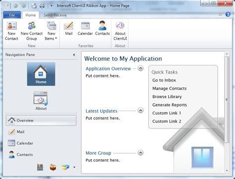 Wpf Menu Template walkthrough create a new wpf ribbon application from project template