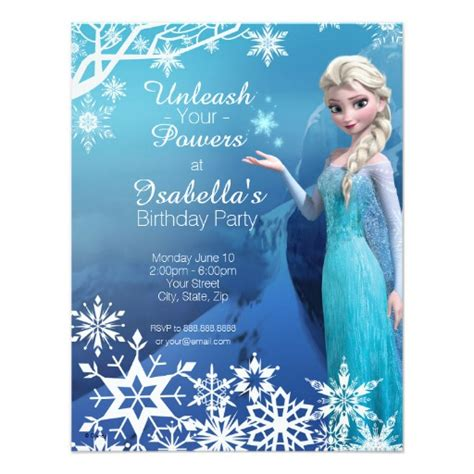 frozen themed birthday quotes frozen elsa birthday invitation zazzle
