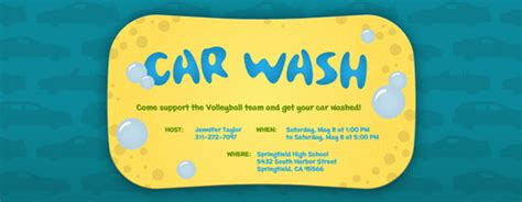 car wash tickets templates free charity fundraisers free invitations