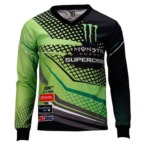 monster motocross jersey monster energy supercross green jersey