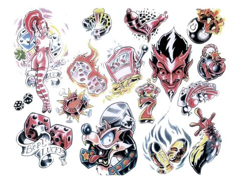 gambler tattoo designs 20 designs