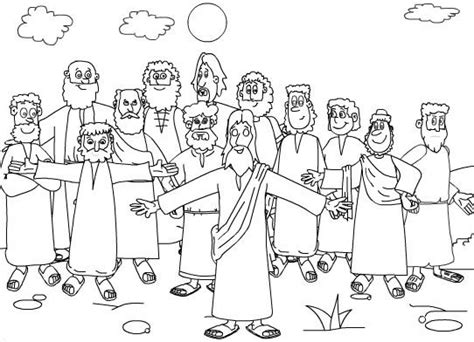 coloring page jesus apostles 19 best the twelve disciples coloring pages images on