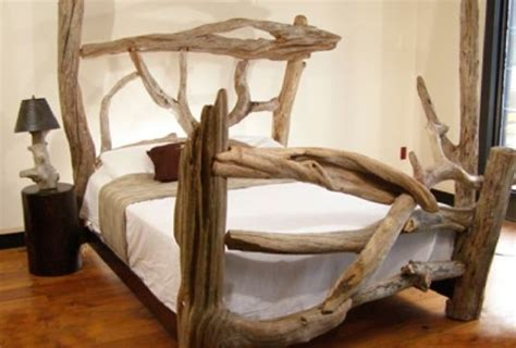 Driftwood Bed Frame One Of Will S Driftwood Creations Ideas For Future Home Pinterest Photos Beds And