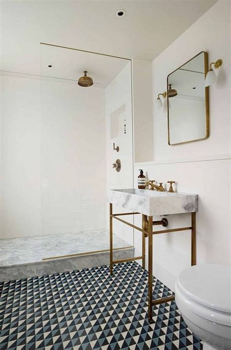 patterned tile bathroom 41 cool bathroom floor tiles ideas you should try digsdigs