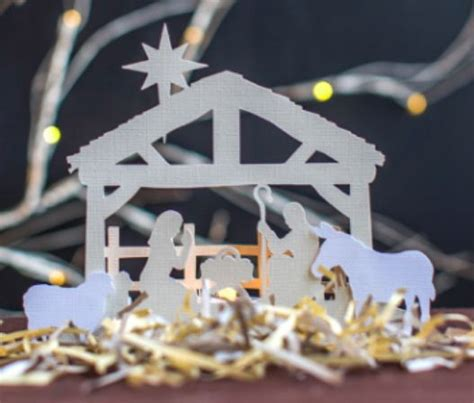 Nativity Paper Craft - nativity paper cut free papercraft