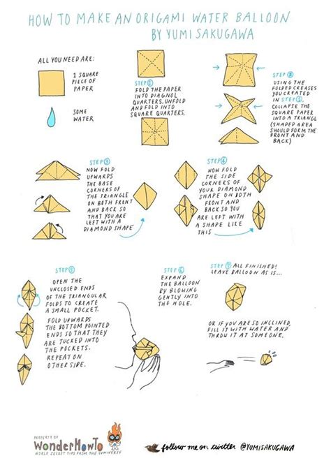How To Make Origami Balloons - how to make origami balloon how to make an origami water
