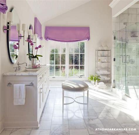 purple and beige bathroom light beige marble master bath pops of purple master