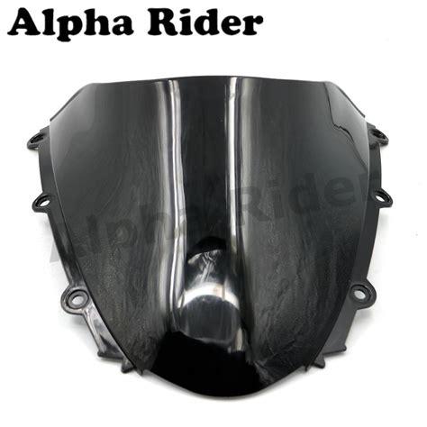 Windshield Black 45 motorcycle wind deflectors windshield windscreens for honda cbr1000rr 04 07 cbr