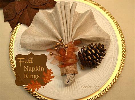 hometalk diy fall napkin rings