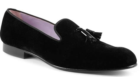 mens velvet slippers vivienne westwood tassel velvet slippers in black for
