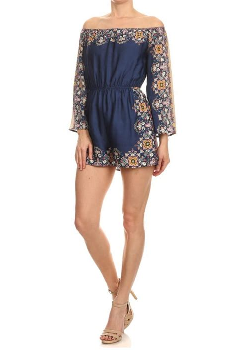 Romper Navy depri navy paisley romper from san diego by laundry shoptiques