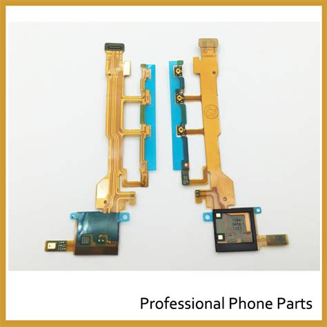 Flexibel Power Volume Swith Tombol Sony Xperia Sp C5302 10pcs lot original new power volume side button microphone flex cable for sony xperia z l36h