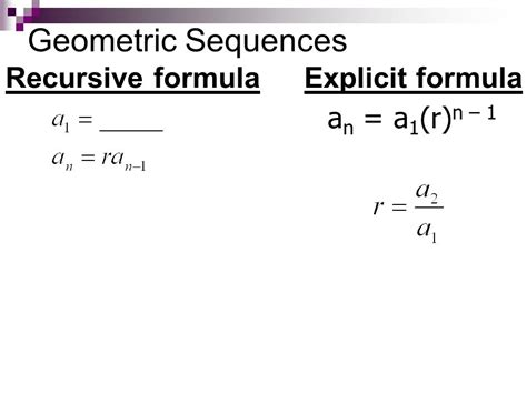 geometric number pattern formula unit 6 sequences series ppt video online download