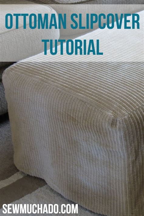 how to make ottoman cover best 25 ottoman slipcover ideas on pinterest ottoman