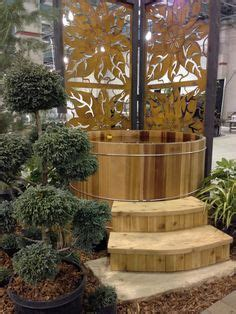 Sacramento Home And Garden Show by 6 Diameter X 5 High Wood Barrel Tub With Electric