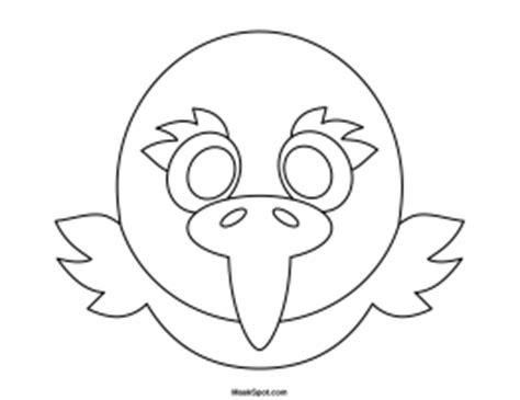 eagle mask coloring page printable eagle mask