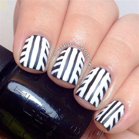Design For Nails Black And White
