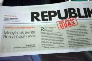 format berita media cetak menkominfo media cetak untuk tangkal hoax republika online