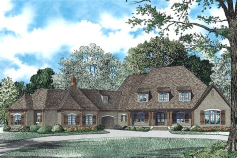 house plans with portico garage house plan 153 1942 6 bdrm 6 363 sq ft french country home theplancollection