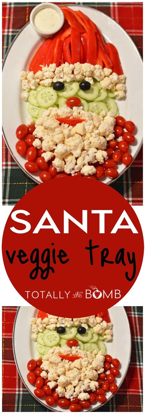vegetable santa claus platter santa veggie tray
