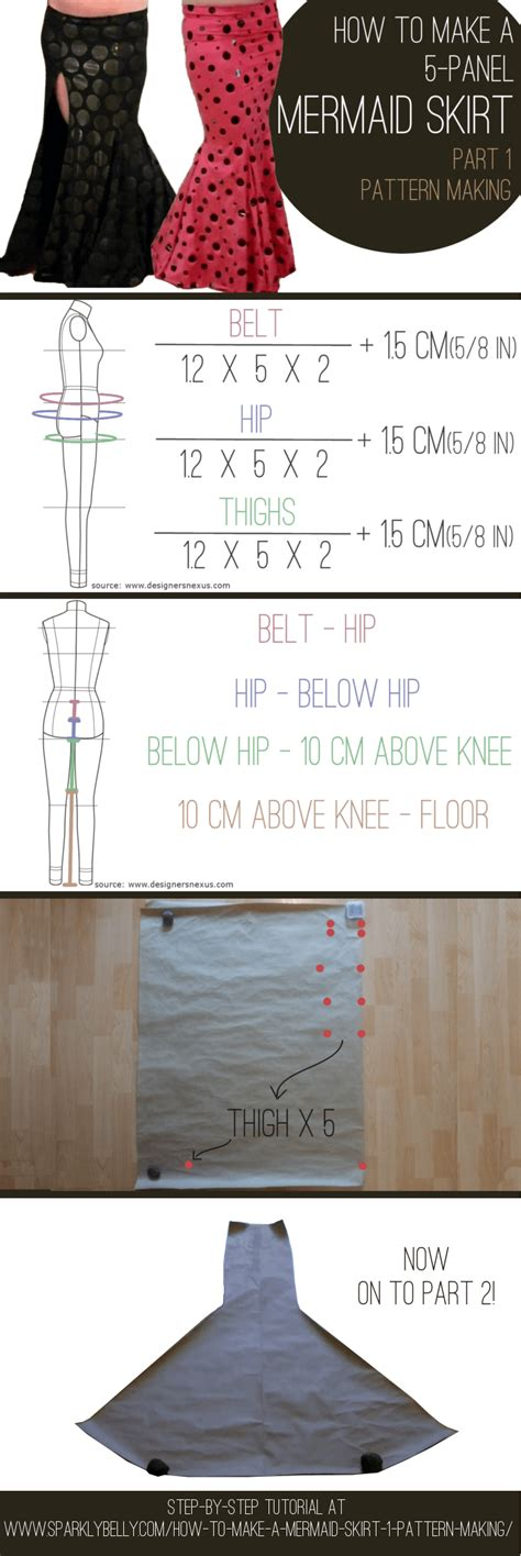 make pattern from image how to make a mermaid skirt part 1 pattern making
