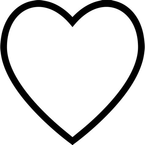 cuore contorno come interfaccia simbolo icona libero di