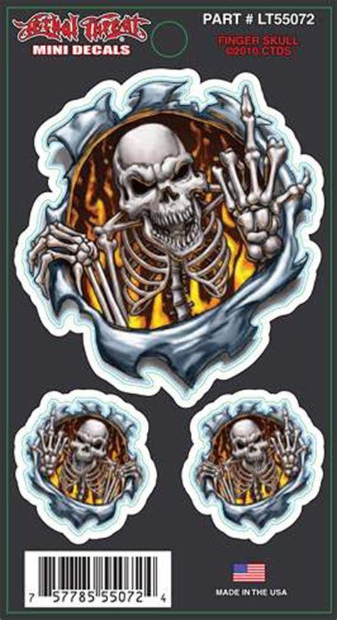 Aufkleber 3 Finger by Aufkleber Mittel Finger Skull 2 Ministicker
